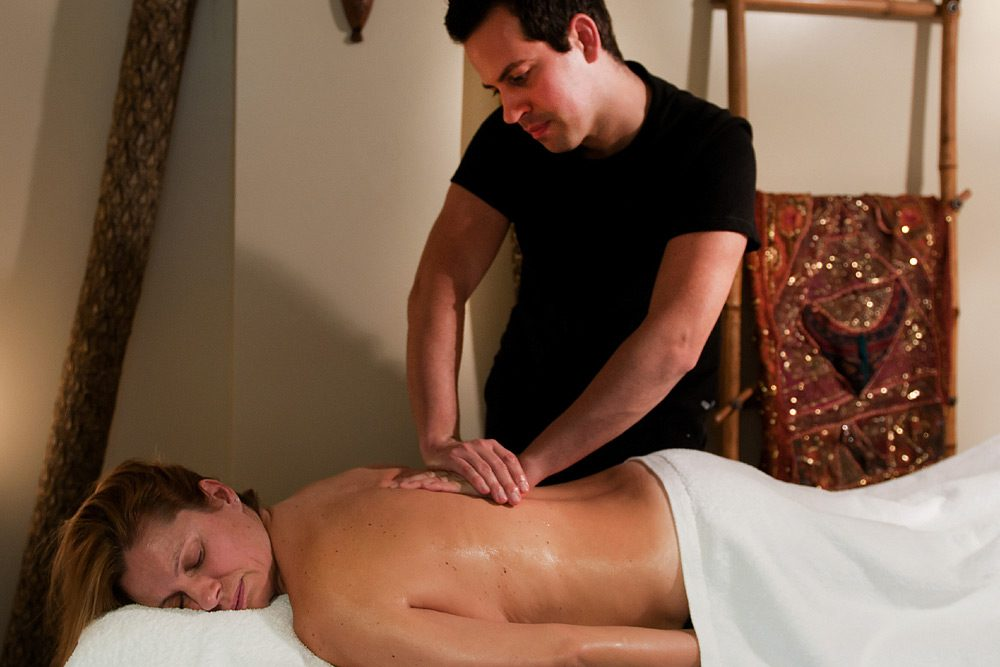 masaje de espalda Fran Barahona