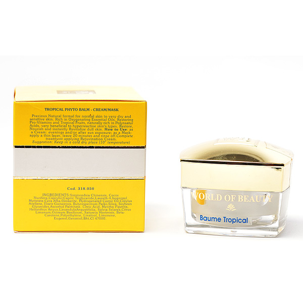 Mascarilla facial BAUME TROPICAL ingredientes de World of Beauty
