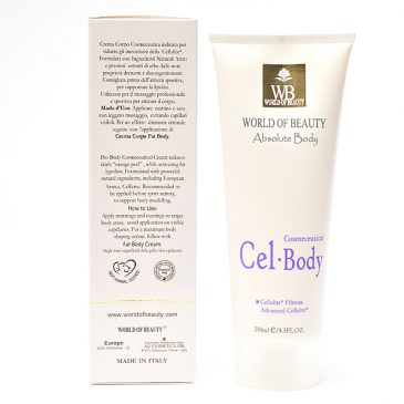 Crema celulítica CEL BODY ingredientes de World of Beauty