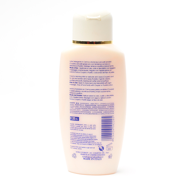 Leche limpiadora facial PURETE ingredientes de World of Beauty