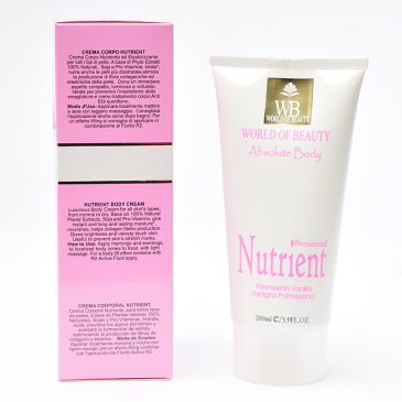 Crema antiestrías NUTRIENT BODY ingredientes de World of Beauty