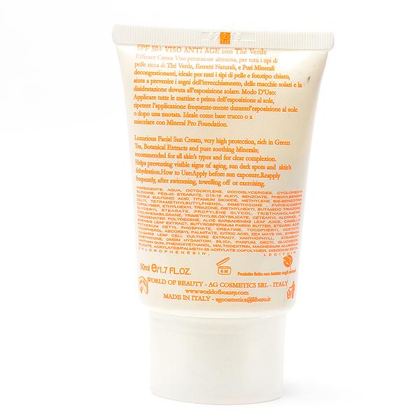 Protector solar facial antiedad 50+ de 50 ml de World of Beauty